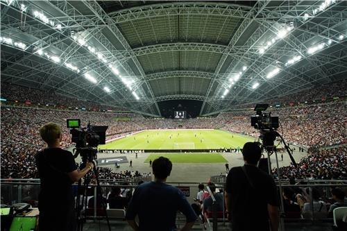 삼성 QLED 8K로 보는 손흥민…챔피언스컵 8K 카메라 촬영