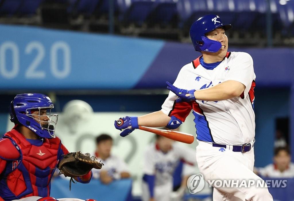 [올림픽] 김현수 안타