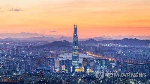 Lotte World Tower, a 123-story skyscraper in southern Seoul, is seen in this photo provided by Lotte. (Yonhap)