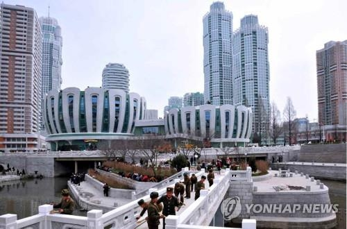 This undated photo shows new apartments and facilities in Pyongyang. (For Use Only in the Republic of Korea. No Redistribution) (Yonhap)