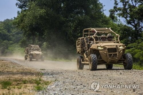 This image captured from the website of the U.S. Defense Department on June 12, 2017, shows utility task vehicles which U.S. Marine Corps. has brought to South Korea for a joint drill with its South Korean counterpart. (Yonhap)