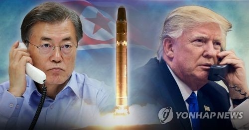 (LEAD) S. Korea, U.S. not considering any military measures against N. Korea: Cheong Wa Dae - 1