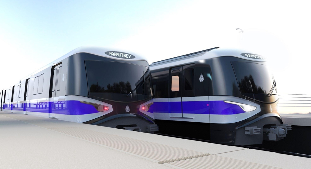 This graphic image, provided courtesy of Hyundai Rotem, shows subway trains to be built by tehe company for the Istanbul City government. (Yonhap)