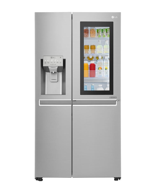 This photo, released by LG Electronics Inc. on Dec. 12, 2017, shows its GSX961NSAZ refrigerator. (Yonhap)