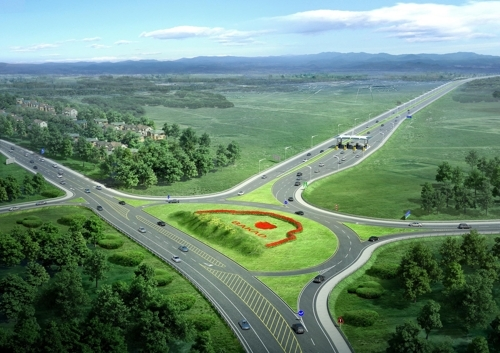 An image of the Big Almaty Ring Road, provided by SK E&C (Yonhap)