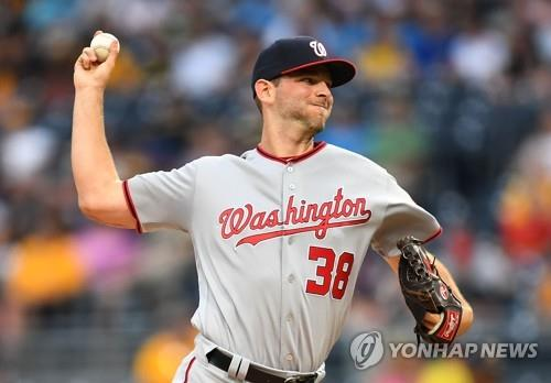In this Getty Images file photo from May 17, 2017, Jacob Turner, then with the Washington Nationals, pitches against the Pittsburgh Pirates during the bottom of the first inning of a Major League Baseball regular season game at PNC Park in Pittsburgh, Pennsylvania. South Korean ball club Kia Tigers said that they've acquired Turner on a one-year, US$1 million deal. (Yonhap)
