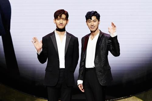 This image of TVXQ is provided by SM Entertainment. (Yonhap)