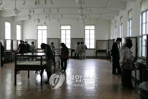 This photo taken in October 2007 shows the interior of Kansong Art Museum. (Yonhap)