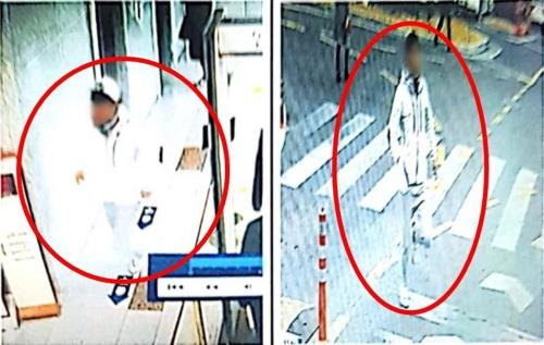 This CCTV image, provided by the police on Jan. 11, 2019, shows Kim on the run. (Yonhap)