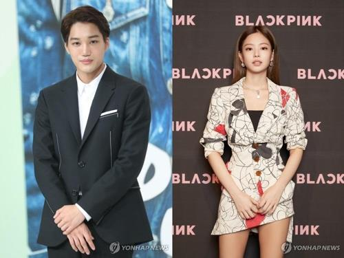 These images show Kai from EXO (L) and Jennie. (Yonhap)