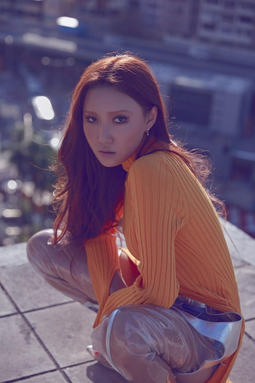 This photo of Mamamoo's Hwasa is provided by RBW. (Yonhap)