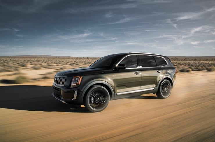 This file photo, provided by Kia Motors America, shows the Telluride three-row SUV in the United States. (Yonhap)