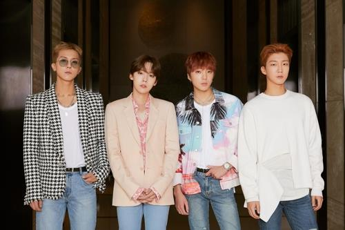 This photo, provided by YG Entertainment, shows K-pop boy band WINNER. (Yonhap)