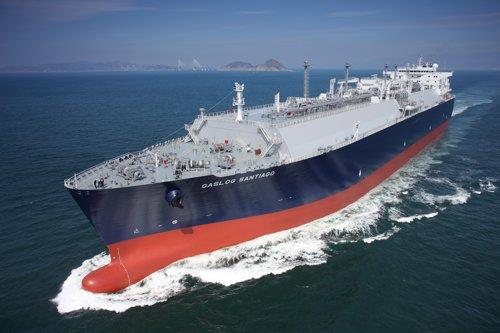 This undated photo from Samsung Heavy Industries Co. shows an LNG carrier built by the company. (PHOTO NOT FOR SALE) (Yonhap)