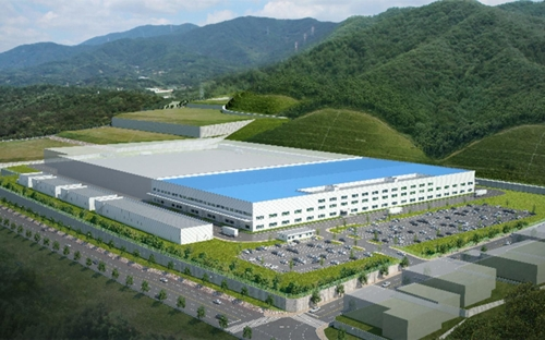 This image provided by Hyundai Mobis shows the auto parts maker's EV parts plant to be built in Ulsan, 414 km southeast of Seoul, by early 2021. (PHOTO NOT FOR SALE) (Yonhap)