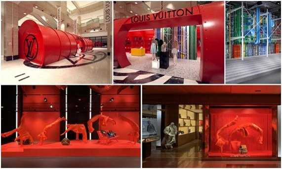 This photo, provided by Louis Vuitton Korea, shows its first Asian pop-up space at a Shinsegae Department Store outlet in southern Seoul entirely devoted to handbags. (PHOTO NOT FOR SALE) (Yonhap)
