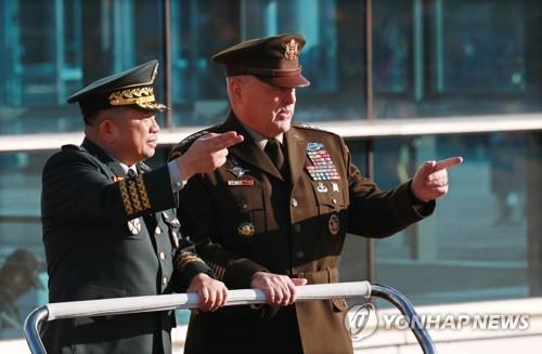 U.S. military chief vows full use of military capabilities to defend S. Korea