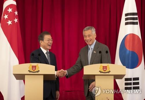 S. Korea, Singapore agree to boost ties on smart cities, arms development