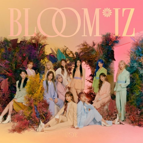 "This image of IZ*ONE's new album, ""Bloom*Iz,"" is provided by Off the Record Entertainment. (PHOTO NOT FOR SALE) (Yonhap)"