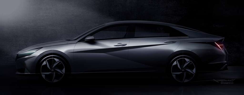 This teaser image provided by Hyundai Motor shows the all-new Avante compact to be launched in the domestic market next month. (PHOTO NOT FOR SALE) (Yonhap)