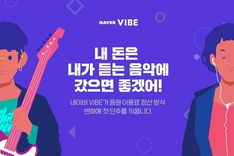 A promotional image for Naver Vibe provided by the music streaming service (PHOTO NOT FOR SALE) (Yonahp)