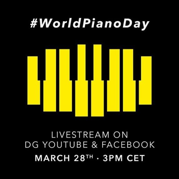 A promotional image for Deutsche Grammophon's World Piano Day livestreamed concert on March 28, 2020 (PHOTO NOT FOR SALE)
