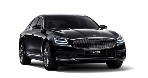 This file photo provided by Kia Motors shows the upgraded K9 sedan. (PHOTO NOT FOR SALE)(Yonhap)