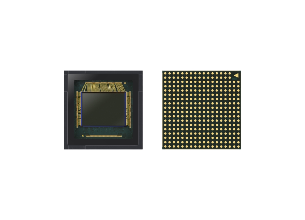 This image, provided by Samsung Electronics Co. on May 19, 2020, shows the company's new image sensor, the ISOCELL GN1. (PHOTO NOT FOR SALE) (Yonhap)