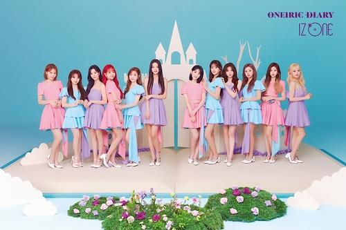 A publicity file photo of IZ*ONE, provided by Off the Record (PHOTO NOT FOR SALE) (Yonhap)