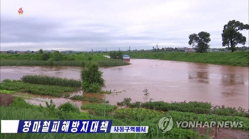 N.K. leader visits flood-damaged village, orders release of reserve grain for victims