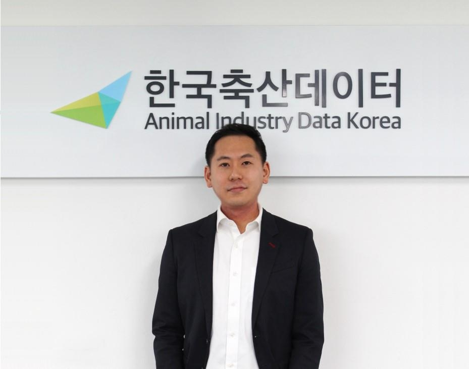 Daniel Kyeong, co-founder and CEO of South Korea-based tech startup Animal Industry Data Korea, or AID Korea. (PHOTO NOT FOR SALE) (Yonhap)