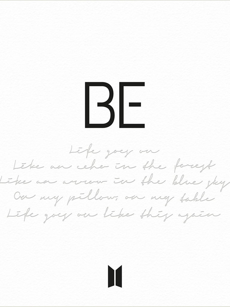 "This photo, provided by Big Hit Entertainment on Nov. 11, 2020, shows the digital cover for the upcoming BTS album ""BE."" (PHOTO NOT FOR SALE)(Yonhap)"