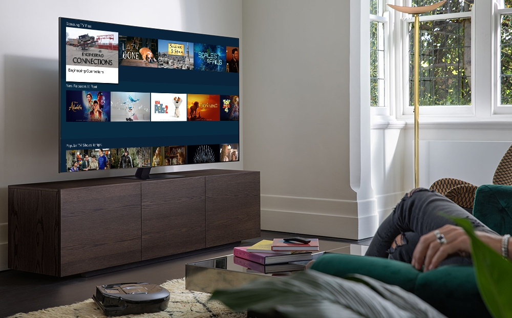 This image provided by Samsung Electronics Co. shows the company's TV streaming platform Tizen. (PHOTO NOT FOR SALE) (Yonhap)