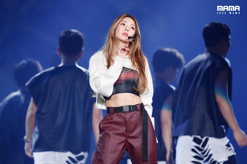 This photo, posted on the official Twitter account of the Mnet Asian Music Awards (MAMA) on Dec. 6, 2020, shows BoA. (PHOTO NOT FOR SALE) (Yonhap)