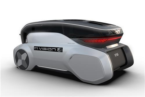 This file photo provided by Hyundai Mobis shows the fully autonomous M.Vision S concept unveiled at the Consumer Electronics Show in Las Vegas in January 2020. (PHOTO NOT FOR SALE) (Yonhap)
