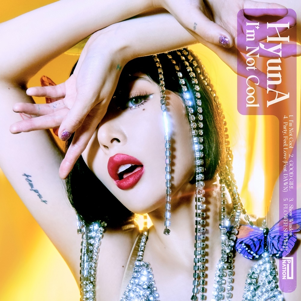 "This photo, provided by P Nation, shows the online cover for HyunA's new EP ""I'm Not Cool."" (PHOTO NOT FOR SALE) (Yonhap)"
