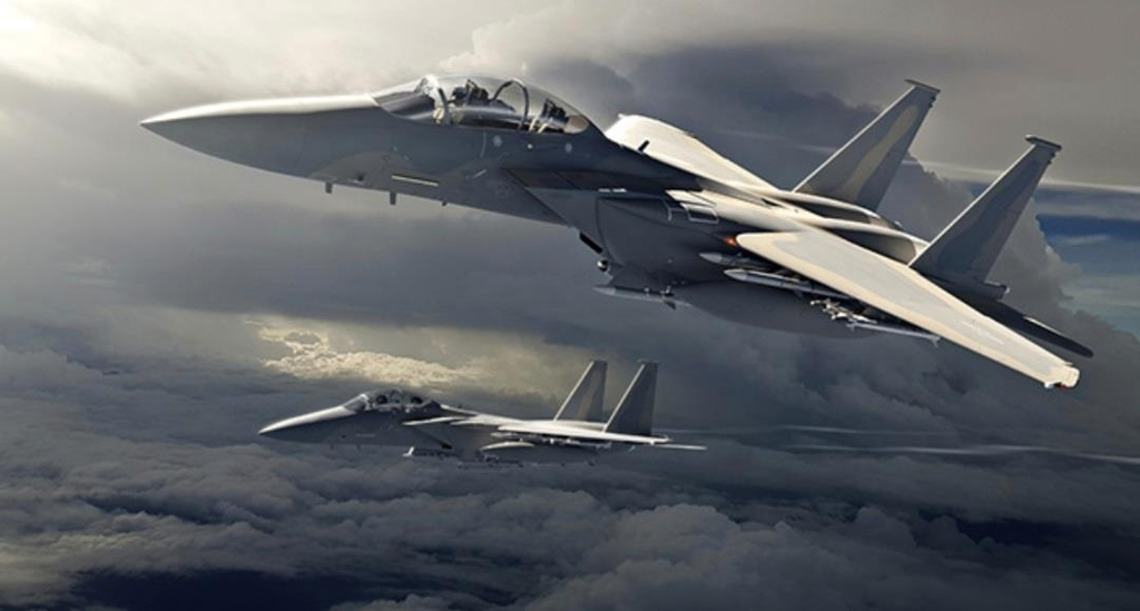 This image captured from Boeing's website on April 9, 2021, shows the F-15EX fighter jet. (PHOTO NOT FOR SALE) (Yonhap)