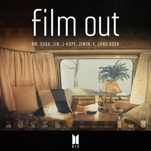 "This image provided by Big Hit Music, shows the cover for BTS' Japanese single, ""Film Out."" (PHOTO NOT FOR SALE) (Yonhap)"