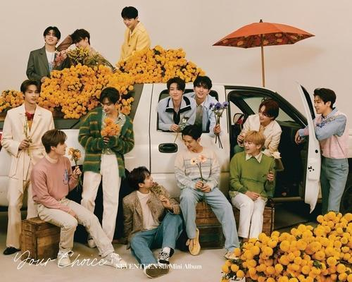This photo, provided by Pledis Entertainment, shows K-pop boy band Seventeen. (PHOTO NOT FOR SALE) (Yonhap)