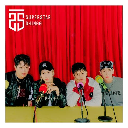 """This photo, provided by SM Entertainment, shows the digital cover for K-pop act SHINee's Japanese-language EP """"Superstar."""" (PHOTO NOT FOR SALE) (Yonhap)"""