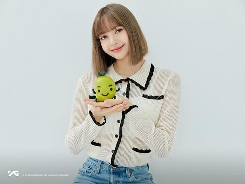 This photo, provided by YG Entertainment, shows Lisa of K-pop girl group BLACKPINK. (PHOTO NOT FOR SALE) (Yonhap)