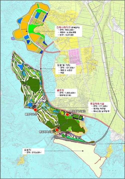 김해 복합스포츠레저시설 계획도
