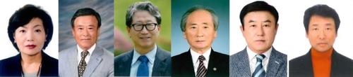 제주도 문화상 수상자(왼쪽부터 하순애·강중훈·고영철·홍석빈·송동희·문양추)