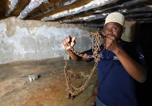 노예들을 묶었던 쇠사슬 [사진/성연재 기자]