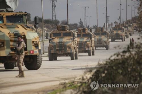 시리아 북서부 이들립 지역에 배치된 터키군