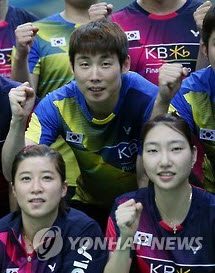 2016 리우올림픽 출전한 손완호와 성지현