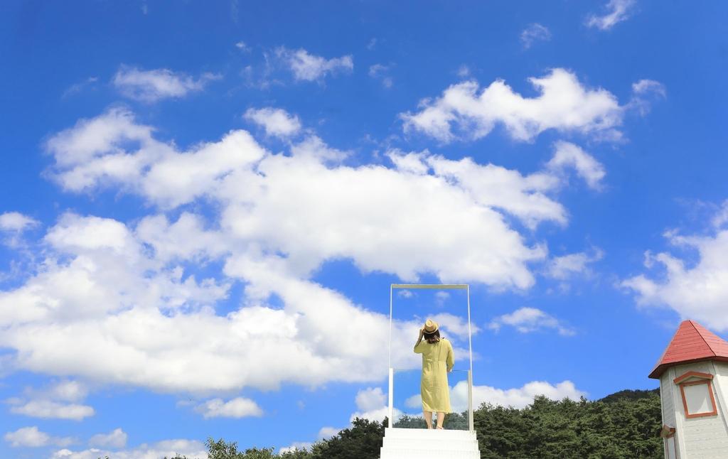 경남 함양 하미앙 와인밸리의 하늘계단 [사진/성연재 기자]
