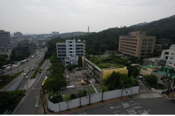 서울시청 남산2청사 철거 전 전경