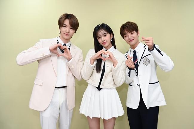 (왼쪽부터) NCT 성찬, 아이즈원 안유진, 트레저 지훈