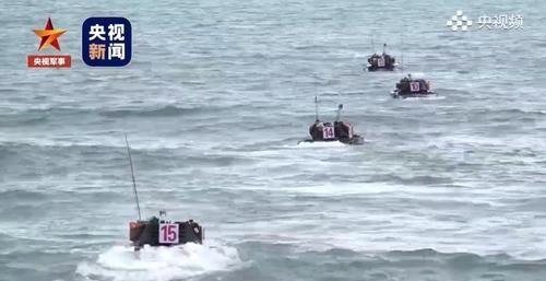 대만을 겨냥한 중국의 실탄 동원 섬 상륙훈련